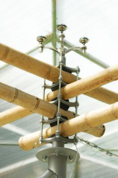 Bamboo Joint Bamboo Structure, Timber Structure, Bamboo House, Bamboo Fence, Bamboo Architecture, Architecture Details, Design Despace, Bamboo Building, Natural Building