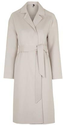 TopShop Womens **Premium Belted Slouchy Coat - Cream