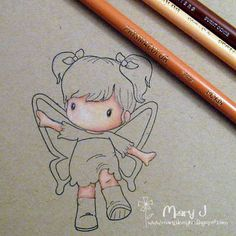 Where's my creativity?: Tutorial for colouring skin with Prismacolor pencils