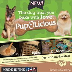 #Homemade #Dog Cookies by #pupolicious... This is cool, because you can bake dog treats at home!