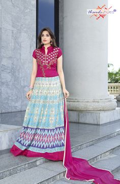 Pure Cotton Printed #Anarkali #Suit with Nazneen #Dupatta, Pure Cotton Material for the bottom