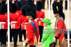 Queen Elizabeth II and Prince Philip, Duke of Edinburgh attend Trooping the Colour, this year marking the Queen's 90th birthday at The Mall on June 11, 2016 in London, England. The ceremony is Queen Elizabeth II's annual birthday parade and dates back to the time of Charles II in the 17th Century when the Colours of a regiment were used as a rallying point in battle. (Photo by Stuart C. Wilson/Getty Images)