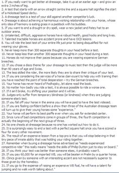 Rules of Dressage