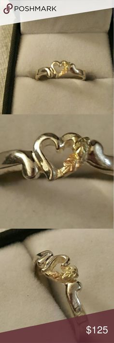 HEART BLACK HILLS GOLD RING VERY DANTE HEART RING BLACK HILLS GOLD 12K STERLING SILVER  SIZE 6.5 IN BEAUTIFUL CONDITION COMES IN A GIFT BOX GREAT FOR YOUR SELF OR FOR SOME ONE SPECIAL   IF YOU LIKE THIS PUSH ON MY NAME AND YOU CAN SEE THE REST OF MY JEWELRY AND THE OTHER STUFF I HAVE POSTED ,LOTS OF GOOD STUFF BLACK HILLS GOLD Jewelry Rings