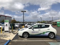 Did you know our electric vehicle charging stations support both CHAdeMO (used mostly by EVs like the Nissan Leaf, Mitsubishi i-MiEV and Kia Soul EV) and CCS. We have several stations around the island of Oahu. You can find out where the closest charging station near you on our mobile app at  hawaiianelectric.com/mobileapp.  #DriveElectricHawaii #Electric Vehicles #DCfastchargers