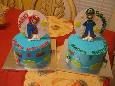 Children's Birthday Cakes - Mario y Luigi