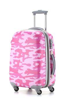 Ambassador® Camo Series Expandable Suitcase 20'' Carry On Spinner Luggage Pink #Ambassador #Luggage #pink #Camouflage #Cute #Camo #Fashion #Suitcase