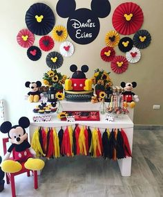 Mickey Mouse Birthday Party for third birthday Mickey 1st Birthdays, Mickey Mouse First Birthday, Mickey Mouse Baby Shower, Mickey Mouse Clubhouse Birthday Party, 2nd Birthday, Elmo Party, Dinosaur Party, Birthday Ideas, Dinosaur Birthday
