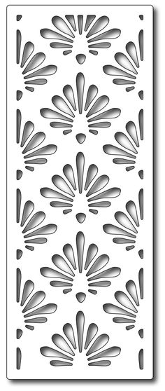 Frantic Stamper - Precision Dies - Shell Half Panel-Our panel dies are specially designed to create gatefold cards. Each panel is exactly the Laser Cut Screens, Laser Cut Panels, Stencil Patterns, Stencil Designs, Kirigami, Jaali Design, Stencils, Cnc Cutting Design, 3d Cnc