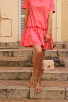 DIY Volant dress Hi Gorgeous, Short Sleeve Dresses, Dresses With Sleeves, Style Blog, Cannes, Sewing Projects, Personal Style, Couture, Street