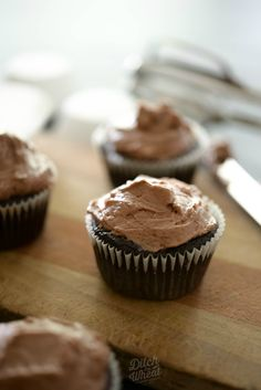 GF/PALEO FRIENDLY Flourless Chocolate Cupcakes