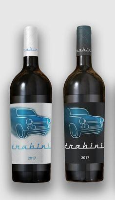 wine etikett design  trabini