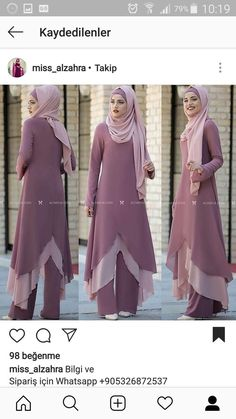 Real work done in real time ! Islamic Fashion, Muslim Fashion, Modest Fashion, Women's Fashion Dresses, Hijab Style Dress, Modele Hijab, Islamic Clothing, Abaya Fashion, Muslim Women
