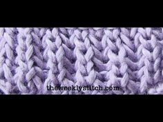 Brioche Stitch: very clear instructions with lots of repetition as she shows several rows