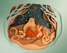 Quirky Illustrated Gifts | Feature: Festive Paper Art | Ohh Deer