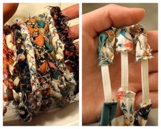 Wrap Around Braided Recycled Fabric Bracelets (2 for 6.00)