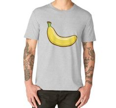 'Fruit Collection - Banana' Premium T-Shirt by manfex Wash Bags, Large Prints, Tshirt Colors, Chiffon Tops, Looks Great, Fitness Models, Fruit, Fabric, Mens Tops