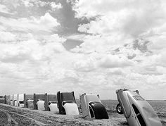 Cadillac Ranch ~ Amarillo, Texas  BEFORE