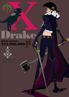 X Drake One piece One Piece Series, One Piece 1, One Piece Images, One Piece Fanart, One Piece Anime, The Pirate King, Nico Robin, Japanese Manga Series, Nihon