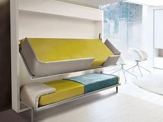 This is Lollisoft, a very ingenious and very practical design for a bunk bed. The most interesting element about this unit that it's a pull-...