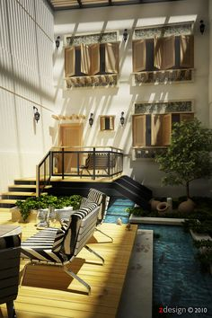The ultimate luxury - an interior courtyard.