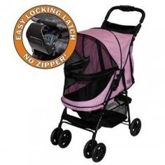 """Pet Gear has really """"raised the bar"""" with our new Happy Trails NO-ZIP stroller. No zippers means no hassle when trying to open and close the stroller. Happy Trails, Cat Throwing Up, Dog Stroller, Dog Whisperer, Large Storage Baskets, Easy Storage, Pet Gear, Puppy Names, Dog Boutique"""
