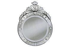 Round Castellol Wall Mirror, Clear