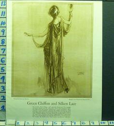 1920s fashion ad - Franklin Simon & Co design