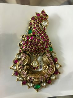 Designer Peacock Pendant with Burmese Ruby Unheated 18k Gold Jewelry, Gems Jewelry, Pendant Jewelry, Antique Jewellery, Diamond Jewelry, Vintage Jewelry, India Jewelry, Temple Jewellery, Gold Pendent