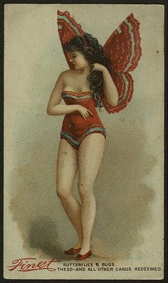 An enchantingly sweet image of a woman in a charming butterfly costume.