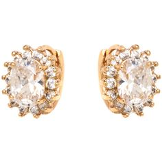 Peermont Jewelry 18k Goldplated Gold and Clear Crystal Spike Flower... ($8.72) ❤ liked on Polyvore featuring jewelry, earrings, yellow, stud earrings, flower stud earrings, drop earrings, gold plated stud earrings and butterfly stud earrings