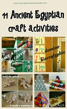 Kids activities and craft ideas for learning about ancient egypt  http://naturalbornhomeschooler.com/2015/05/03/ancient-egypt-project/