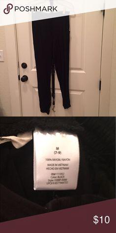 Vanilla Sky Jogger Pants Vanilla Sky Black Jogger Pants, Size Medium. 100% Rayon. Smoke free home. Vanilla Sky Pants