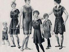 Costumes de bains : 1914 - par femme en 1900