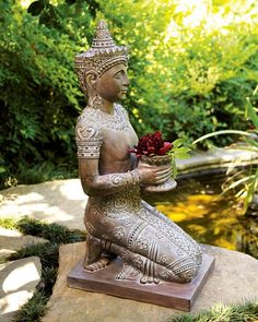 Shop for Kneeling Statue by Horchow at ShopStyle. Outdoor Wall Art, Outdoor Walls, Outdoor Decor, Outdoor Rooms, Outdoor Ideas, Garden Art, Garden Design, Garden Ideas, Side Garden