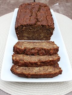Banana Bread made with coconut flour dry ingredients -1/2 cup coconut flour - 1 tsp baking soda - 1 tsp cinnamon - a dash or two of sea salt  wet ingredients - 4 pastured eggs - 1/3 cup coconut oil - 1 tsp vanilla extract - 4 medium bananas (ripe) - 1/4 cup raw honey