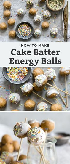 Healthy Cake Batter Bites!! These no-bake funfetti style treats are perfect for a variety of occasions or just make a great snack. Vegan and gluten free recipe, quick and easy. Like eating cake batter but in edible form. Healthy Vegan Breakfast, Healthy Cake, Whole Food Recipes, Vegan Recipes, Dinner Recipes, Protein Snacks, Healthy Snacks, Clean And Delicious, Natural Food Coloring