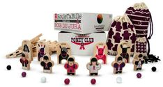 LES JOUETS LIBRES Rouletabille poney club. Details : Create your own rules!, Put your own décor in place, Tactical, 8 marble(s), 13 Stickers, 24 staple(s), 6 Wooden figurine(s), 5 wooden pannel(s), 24 Wooden pannel(s), 3 Organic Cotton bag(s), Collector's edition box, specifically for the launch of the games and products in a limited quantity of 1000 products, Bag in organic GOTS cotton, Wood from the protected forests of the Jura * Age : Age 4 and upwards.