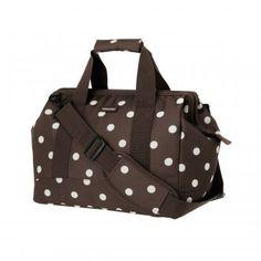 #design3000 Mocha Dots Allrounder - Vielseitige, geräumige Tasche im Stil einer klassischen Arzttasche.
