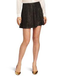 Bcbgeneration Women's Pull Up Circle Skirt, Black/gold, X-small