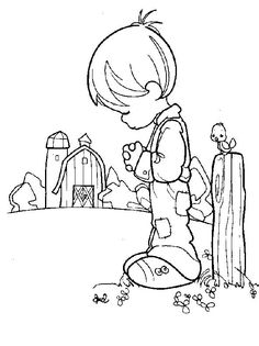 Precious Moments Coloring Pages | Back to Coloring pages precious moments category
