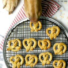 Oat and Apple Pretzel Dog Treats! These healthy and easy treats for your dog are made with only 4 ingredients! Make your pup happy!
