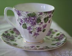 Remember when pretty tea cups and saucers were used when girlfriends dropped in for tea?
