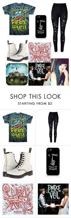 """""""🎧🎧"""" by that-1-awkward-friend1234 ❤ liked on Polyvore featuring WithChic and Dr. Martens"""