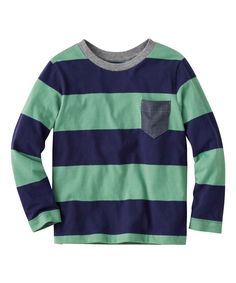 Take a look at this Navy & Grassland Bold Stripe Tee today!