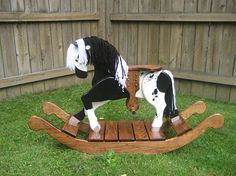 Abby The Appaloosa Wooden Rocking Horse by TrottWoodCreations Rocking Horse Plans, Wood Rocking Horse, Wooden Baby Toys, Wood Toys, Wooden Rocker, Wood Creations, Woodworking Crafts, Woodworking Plans, Wood Pallets