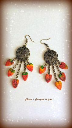#polymerclay #earrings #autumn Orecchini in fimo orecchini handmade orecchini eleganti