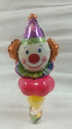 traktatiebeker met vrolijk clowntje
