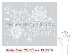 Allover Pattern Stencils   Kimono Allover Stencil   Royal Design Studio
