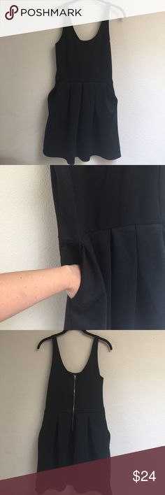 Little Black Skater Dress Medium Aeropostale Little Black Skater Dress Size Medium. Pockets in Pleats and a Silver Zipper Down the Back. Aeropostale Dresses